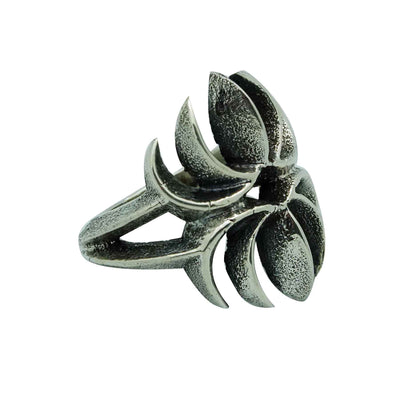 Load image into Gallery viewer, Aaron Anderson, Ring, Spider Design, Tufa Carving, Casting, Navajo Made, 11 _