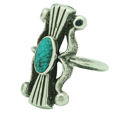 Load image into Gallery viewer, Aaron Anderson, Ring, Kingman Turquoise, Classic Ketoh Design, Navajo, 6 _