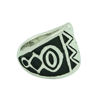 Load image into Gallery viewer, Kary Begay, Ring, Sterling Silver, Tapering, Overlay Technique, Navajo, 6 _