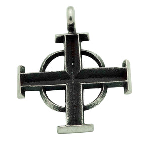 Aaron Anderson, Pendant, Cross, Tufa Carving, Casting, Navajo Made, 1 3/4""