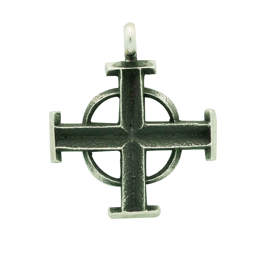 Aaron Anderson, Pendant, Cross, Tufa Carving, Casting, Navajo Made, 1 3/4