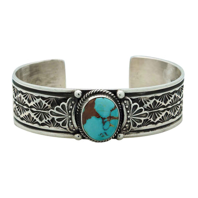 Load image into Gallery viewer, Sunshine Reeves, Bracelet, Royal Blue Royston Turquoise, Navajo Handmade, 6 5/8""