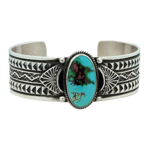 Sunshine Reeves, Bracelet, Royston Turquoise, Traditional, Navajo Made, 6 3/4""
