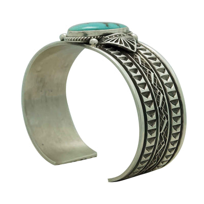 Load image into Gallery viewer, Sunshine Reeves, Bracelet, Royston Turquoise, Traditional, Navajo Made, 6 3/4""