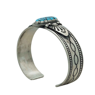 Load image into Gallery viewer, Derrick Gordon, Bracelet, Egyptian Turquoise, Old Style, Navajo Handmade, 6 3/4""