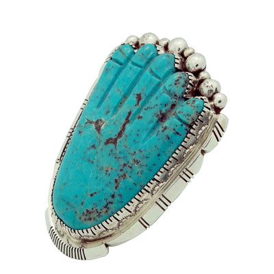 Load image into Gallery viewer, Joelias Draper, Dinah, Pete Gasper, Ring, Healing Hand, Zuni Fetish, Navajo, 10