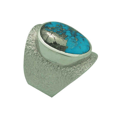 Load image into Gallery viewer, Darryl Dean Begay, Ring, Morenci Turquoise, Tufa Cast, Navajo Made, 10 1/2