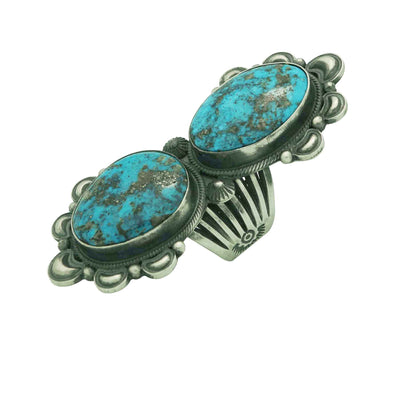 Load image into Gallery viewer, Derrick Gordon, Ring, Kingman Turquoise, Old Style, Navajo Handmade, 7
