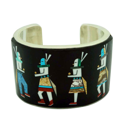 Load image into Gallery viewer, Calvin Desson, Bracelet, Yei' be Chei', Sterling Silver, Navajo Handmade, 7""