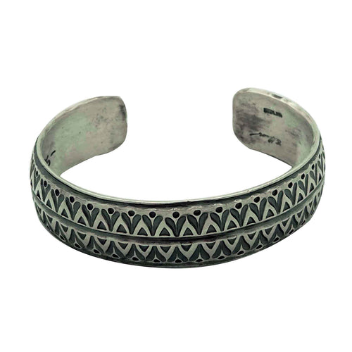 Bo Reeves, Bracelet, Traditional, Stamping, Old Style, Navajo Handmade, 7
