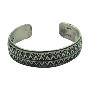 Bo Reeves, Bracelet, Traditional, Stamping, Old Style, Navajo Handmade, 7""