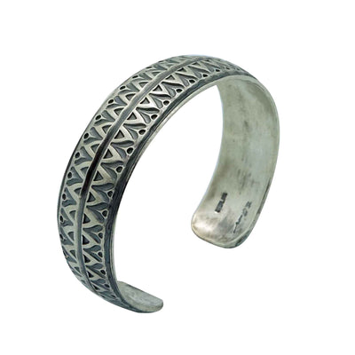 Load image into Gallery viewer, Bo Reeves, Bracelet, Traditional, Stamping, Old Style, Navajo Handmade, 7""