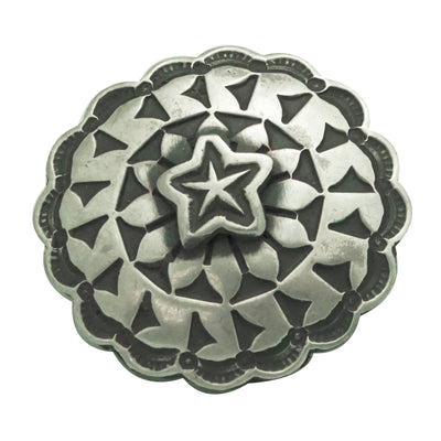 "Load image into Gallery viewer, Bo Reeves, Button, Old Style Silver, Star Design, Navajo Handmade, 1"" Diameter"