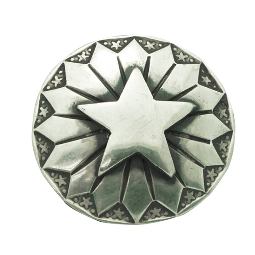 Bo Reeves, Button, Star Cut Out, Stamping, Silver, Navajo Handmade, 1
