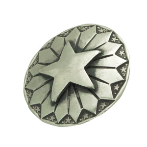 "Bo Reeves, Button, Star Cut Out, Stamping, Silver, Navajo Handmade, 1"" Diameter"