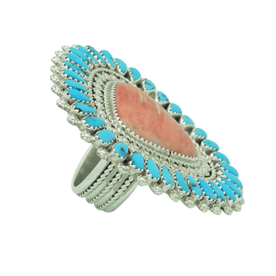Load image into Gallery viewer, Justin, Saraphina Wilson, Ring, Sleeping Beauty Turquoise, Spiny Oyster, 8