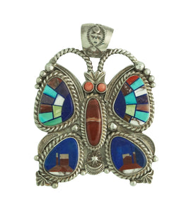 Randy Boyd, Calvin Desson, Pendant, Butterfly, Monument Valley, Navajo, 2 1/2""