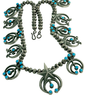 Load image into Gallery viewer, Aaron Anderson, Necklace, Naja Designs, Navajo Pearls, Kingman Turquoise, 24""