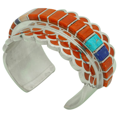 Load image into Gallery viewer, Vernon Haskie, Bracelet, Mediterranean Coral, Lapis, Sugilite, Turquoise, 7 1/2""