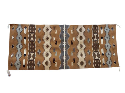 "Load image into Gallery viewer, Emily Yazzie, Chinle, Pictorial, Navajo Rug, Two Grey Hill Color, 34"" x 83"""