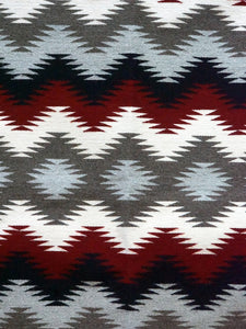 "Millie White, Eye Dazzler, Navajo Rug, Black, Red, Gray, Handwoven, 44"" x 26"""