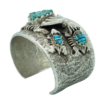 Load image into Gallery viewer, Philander Begay, Bracelet, Horned Toad Family, Turquoise, Navajo Made, 6 7/8""