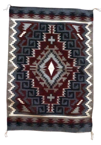 "Jeff Benally, Navajo Handwoven Rug, Ganado Red Design, 30 1/4"" x 43"""