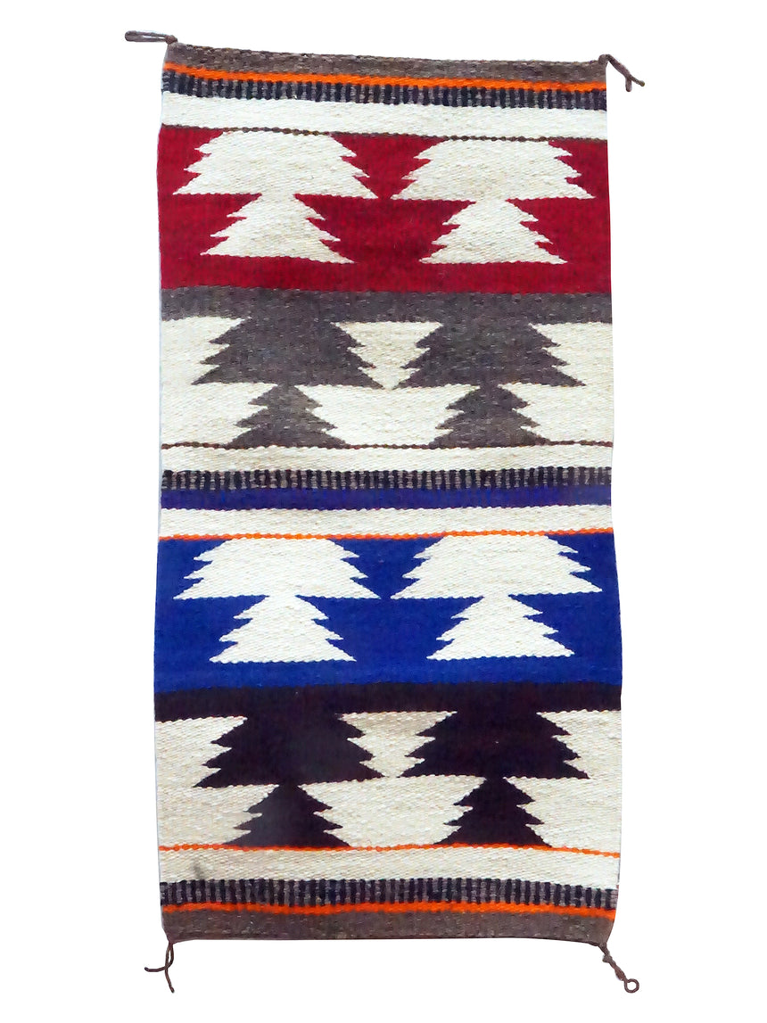 Mary Chee, Gallup Throw Rug, Wool, Cotton, Navajo Handwoven, 36