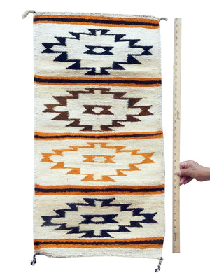 "Load image into Gallery viewer, Gloria Francisco, Gallup Throw Rug, Orange, Browns, Navajo, 37 1/4"" x 19 1/2"""