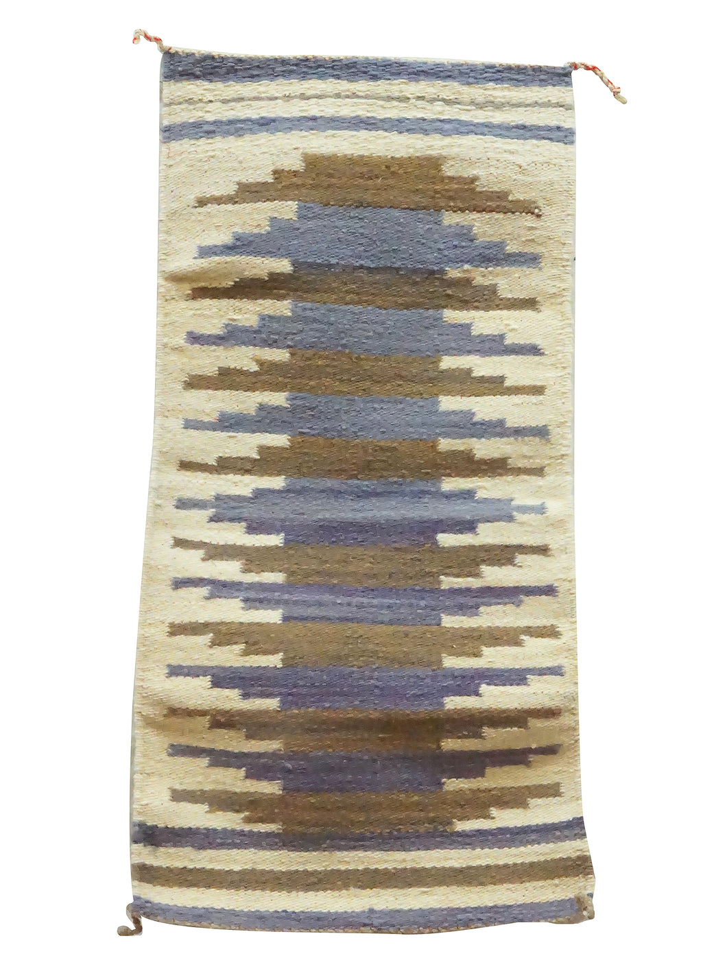Gallup Throw Rug, Blues, Browns, Navajo Handmade, 37