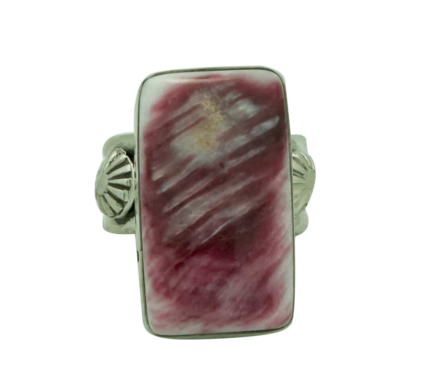 Ben Begaye, Ring, Purple Spiny Oyster Shell, Sterling Silver, Navajo Handmade, 9