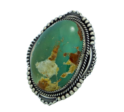 Load image into Gallery viewer, Harold Joe, Ring, Royston Turquoise, Sterling Silver, Navajo Handmade, 7 1/2