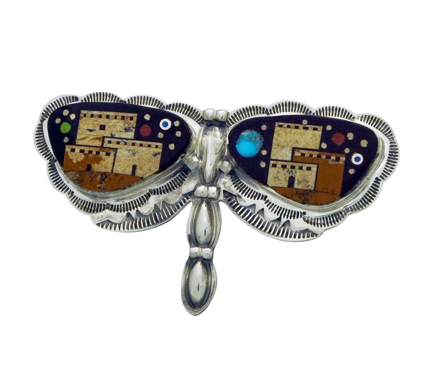 Melvin Francis, Lester James, Adjustable Ring, Dragonfly, Pueblo, Navajo Made