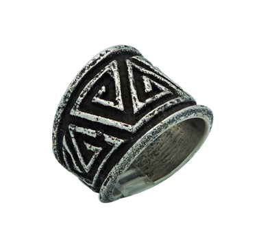 Load image into Gallery viewer, Aaron Anderson, Ring, The Journey, Tufa Cast, Carved, Navajo Handmade, 9 ½