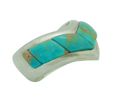 Load image into Gallery viewer, Kelsey Jimmie, Ring, Tufa Cast, Carving, Turquoise Mountain, Navajo Made, 8 1/2