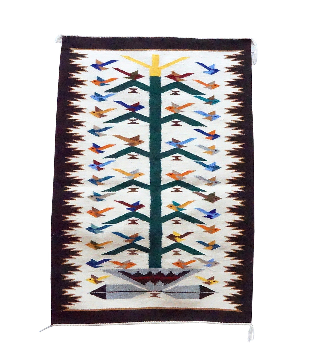Nora Bitah, Tree of Life, Pictorial, 42 Birds, Wedding Basket, Navajo, 43