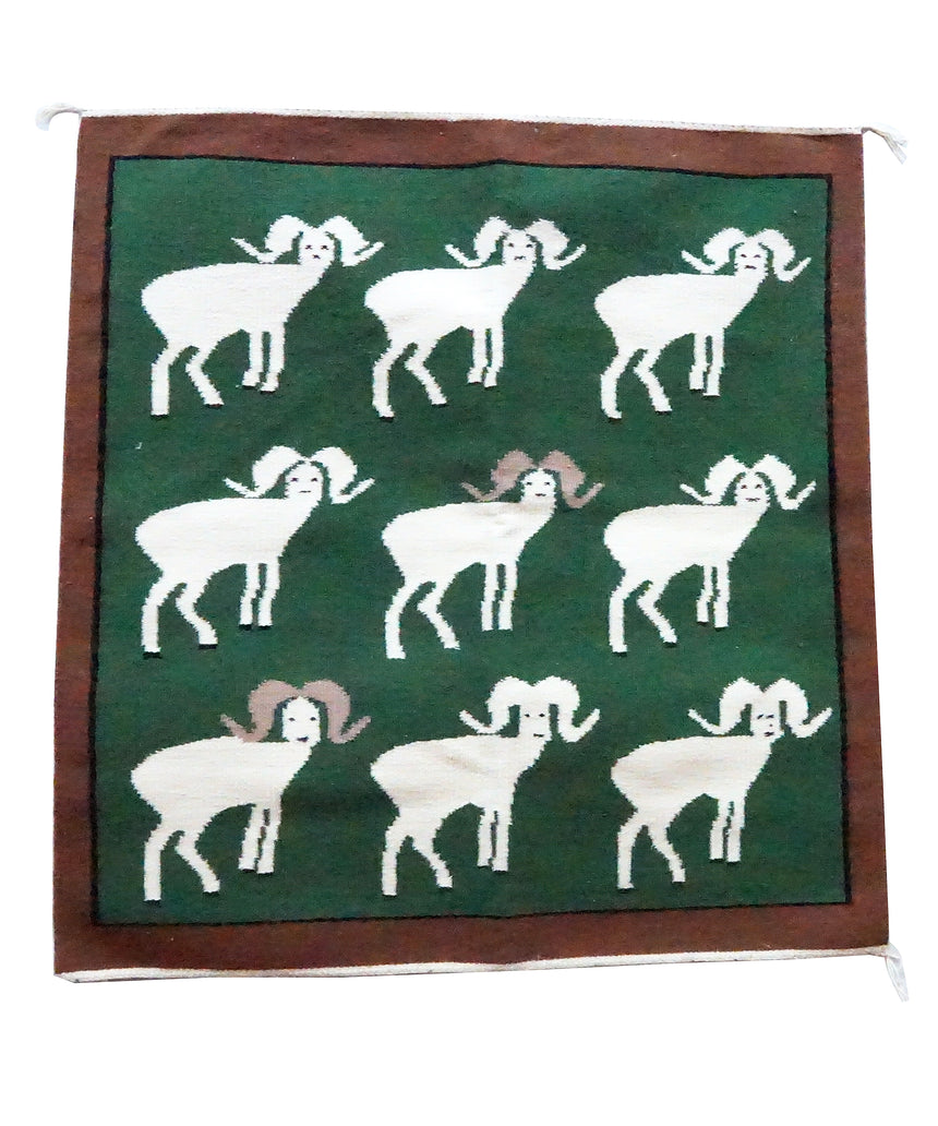 Lenora Joe, Big Horn Sheep, Pictorial, Navajo Handwoven, 36