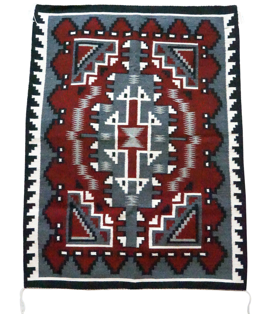 Vera Francis, Ganado Red Weaving, Diamond, Navajo Handwoven, 45