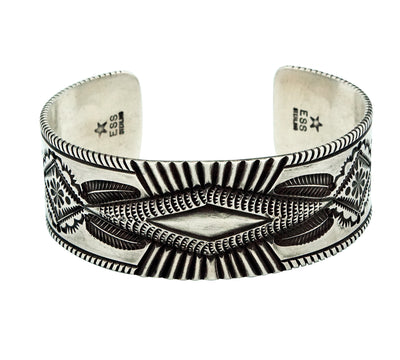 Load image into Gallery viewer, Edison Sandy Smith, Bracelet, Revival Style, Stamping, Navajo Handmade, 7