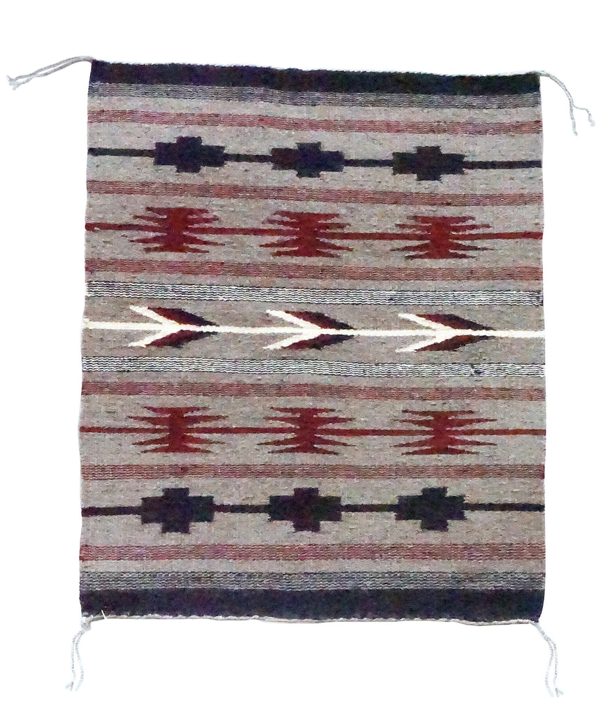 "Latricia Yellowhair, Chinle Design, Natural, Navajo Handwoven, 19 1/2"" x 24"""