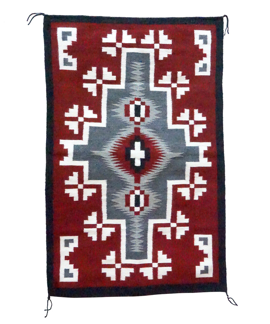 Ancita Begay, Ganado Red Weaving, Diamond, Navajo Handwoven, 34