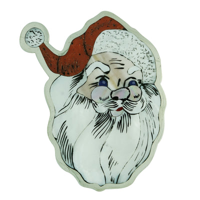 "Load image into Gallery viewer, Dale Edaakie, Pin, Pendant, Santa Claus, Silver, Zuni Handmade, 3 1/8"" x 2 3/4"""