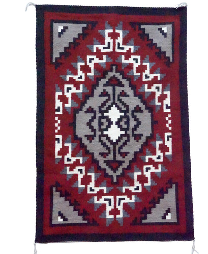 Linda Joe, Ganado Red Weaving, Diamond, Navajo Handwoven, 32