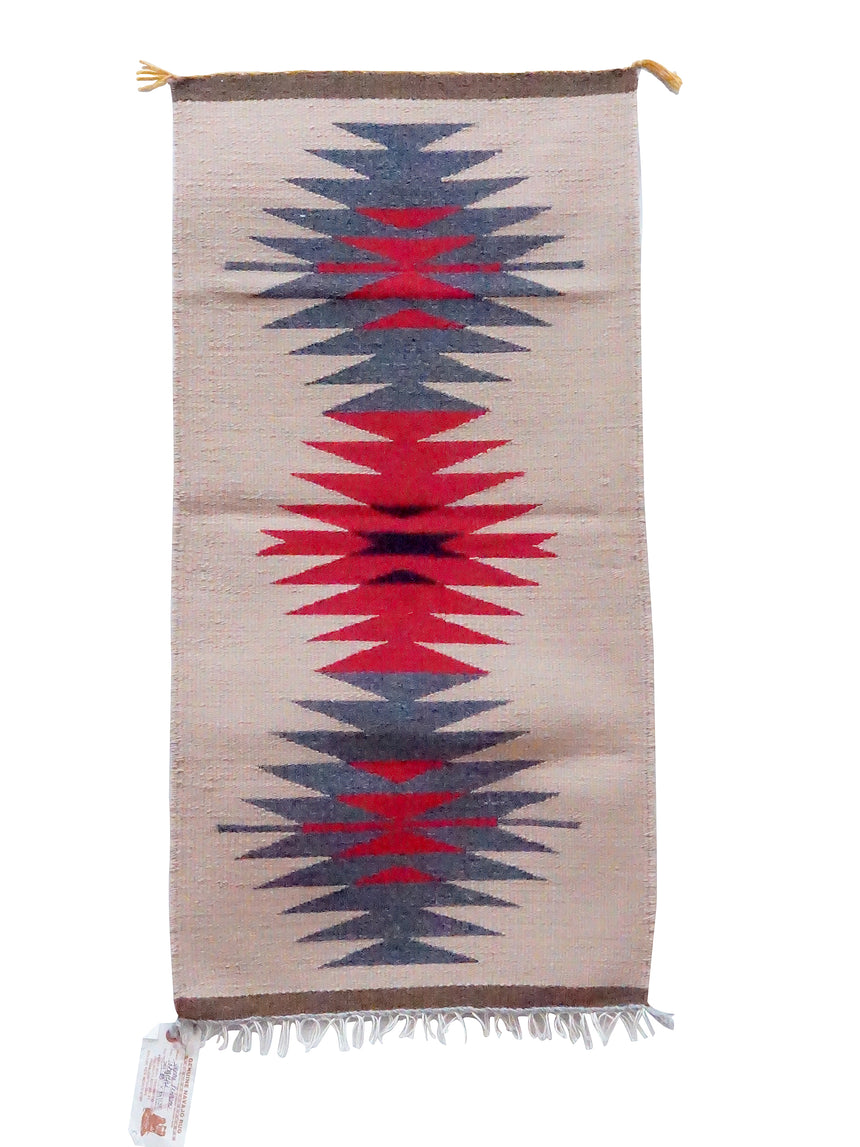 Jennie Peterson, Gallup Throw Rug, Wool Cotton, Navajo Made, 39