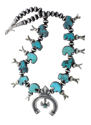 Load image into Gallery viewer, Delayne Reeves, Necklace, Spirit Animals, Silver Beads, Navajo Handmade, 27.5