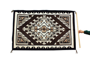 "Veronica Begay, Two Grey Hills, Rug, Navajo, Handwoven, 39"" x 62"""