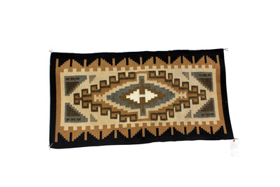 "Load image into Gallery viewer, Corlena Tsosie-Padilla, Two Grey Hills, Rug, Navajo, Handwoven, 51"" x 21"""