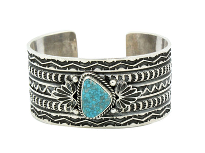 Load image into Gallery viewer, Sunshine Reeves, Bracelet, Lone Mountain Turquoise, Navajo Handmade, 6.25