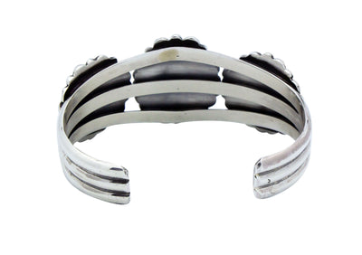Load image into Gallery viewer, Melvin Francis, Bracelet, Narrow, Silver Cluster Design, Navajo Handmade, 6.5