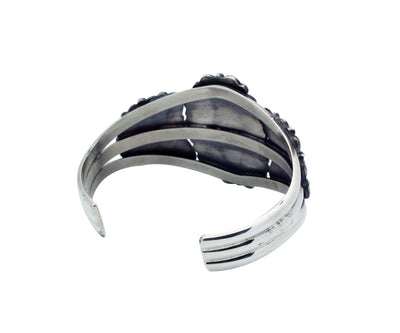 Load image into Gallery viewer, Melvin Francis, Bracelet, Blossoms, Sterling Silver, Navajo Handmade, 6 9/16""